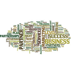The key to success choose the right partner text vector