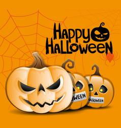 turning into a halloween pumpkin vector image vector image