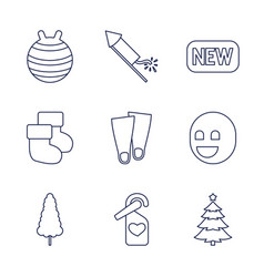 9 new icons vector