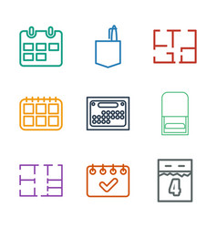 9 plan icons vector