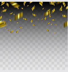 abstract background with gold confetti vector image