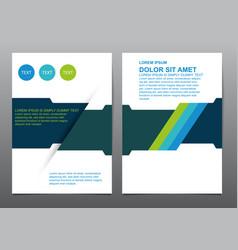 Abstract blue green presentation book cover vector