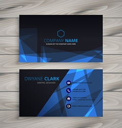 Abstract dark business card vector