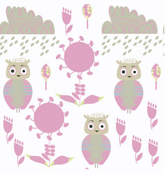 abstract owls seamless pattern in it is located vector image