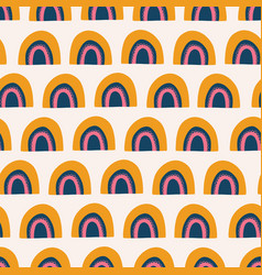abstract rainbows seamless pattern vector image