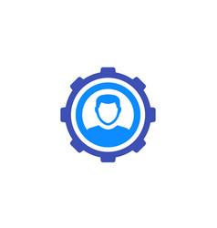 Account settings profile configuration icon vector
