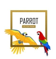 Ara Parrot Flat Design vector