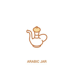 Arabic jar concept 2 colored icon simple line vector