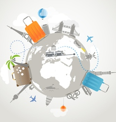 Around the world travelling vector image