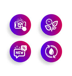 Augmented reality new and leaves icons set vector
