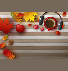 autumn background design vector image