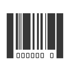 Bar code design isolated vector