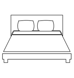Bed the black color icon vector