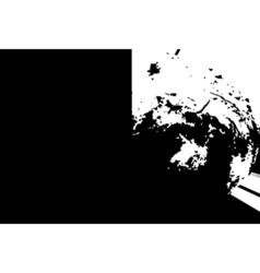 Black and white abstract blot vector