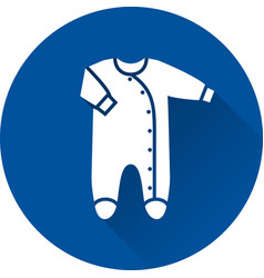 Bodysuit icon bafooted sleeper on blue vector