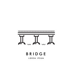 bridge outline logo vector image