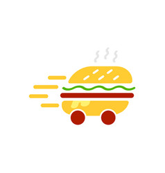 Burger delivery service logo template vector