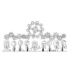 Cartoon of group of business people businessmen vector
