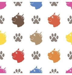 Cat Paw Seamless Animal Pattern vector image