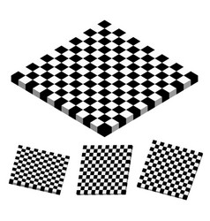 Checkered objects checkered boards vector