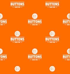 Clothes button dressmaking pattern orange vector