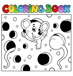 Coloring book with mouse 2 vector