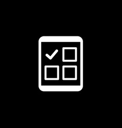 Completed tasks icon business concept flat vector
