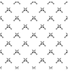 Crossed japanese daggers pattern vector