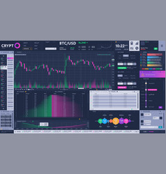 Cryptocurrency exchange terminal interface vector