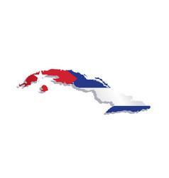 Cuba flag map vector