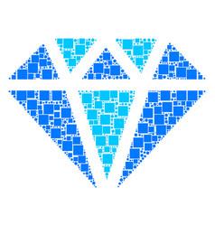 diamond mosaic of squares and circles vector image