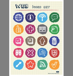 Doodle Internet web icons set drawn by chalk vector image