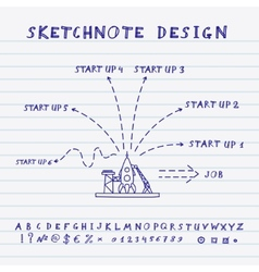 Doodle Start Up Design vector image