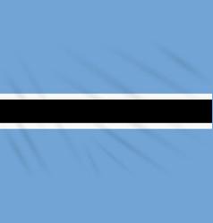 Flag botswana swaying in wind realistic vector