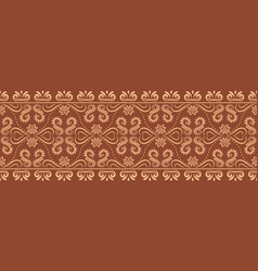 flourish baroque border repeat pattern vector image