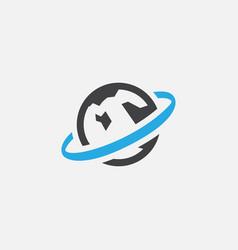 globe logo icon vector image