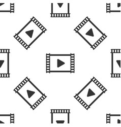 grey play video icon isolated seamless pattern on vector image