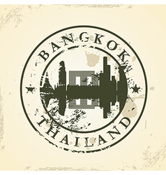 Grunge rubber stamp with Bangkok Thailand vector image