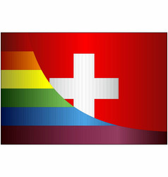 Grunge switzerland and gay flags vector