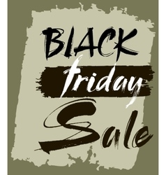 Hand lettering Black Friday sale vector image