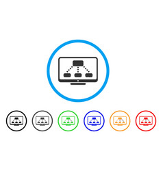 Hierarchy monitoring rounded icon vector