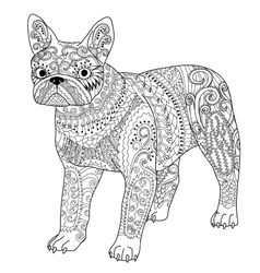 High detail patterned french bulldog vector