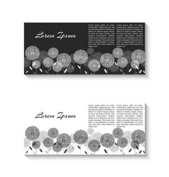 Horizontal two flyer mockup black and white vector
