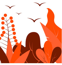 in flat linear style - autumn vector image