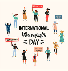 international womens day with vector image