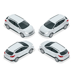 isometric car template on white background vector image