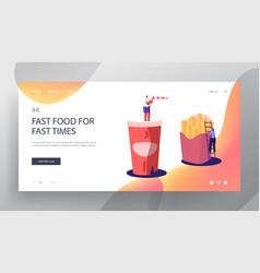 junk meal unhealthy nutrition website landing vector image
