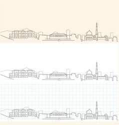 Kabul hand drawn skyline vector