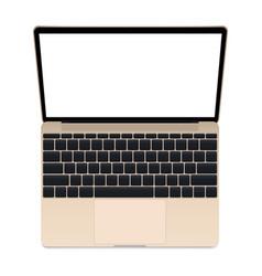 Laptop gold mockup vector