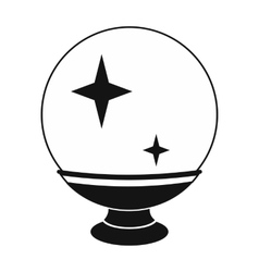 Magic ball black simple icon vector